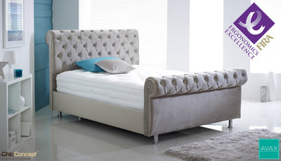 AVAX Lois FIRA Certified Ergonomic Pocket Sprung Hand Stitched Tufted Mattress-AVAX Mattress-Chic Concept