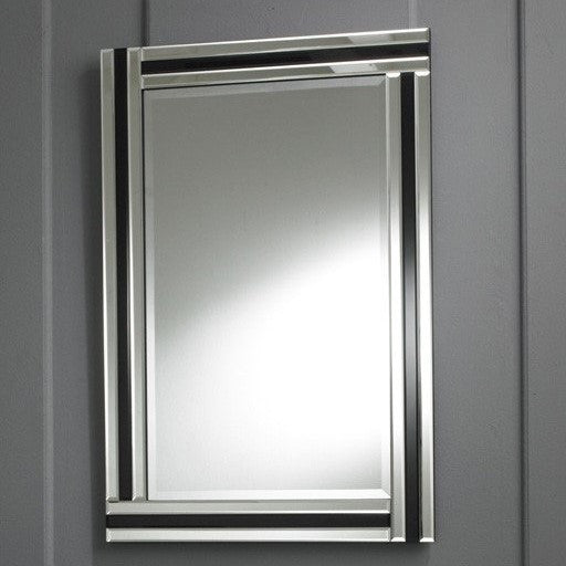 Modern Black & Clear Rectangular Strip Wall Mirror-Art Deco Mirror-Chic Concept