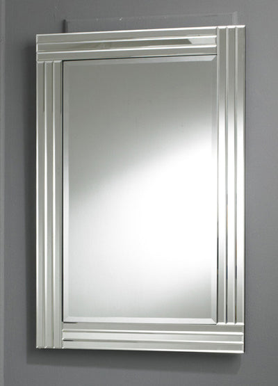 Clear Triple Bevelled Bordered Wall Mirror