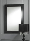 Modern Rectangular Black Triple Bevelled Bordered Wall Mirror-Art Deco Mirror-Chic Concept
