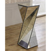Small Mirrored Glass Twisted Phoenix Pedestal Table-Mirrored Furniture-Chic Concept