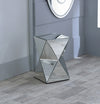 Mirrored Glass Twisted Pedestal-Mirrored Furniture-Chic Concept