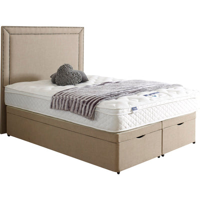 New Bespoke Maurise Double Studded Chrome Headboard Divan Ottoman Storage Bed-Bed-Chic Concept
