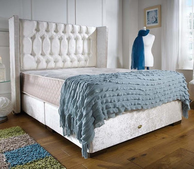 Mayfair Wing Bespoke Divan Storage Bed-Bed-Chic Concept