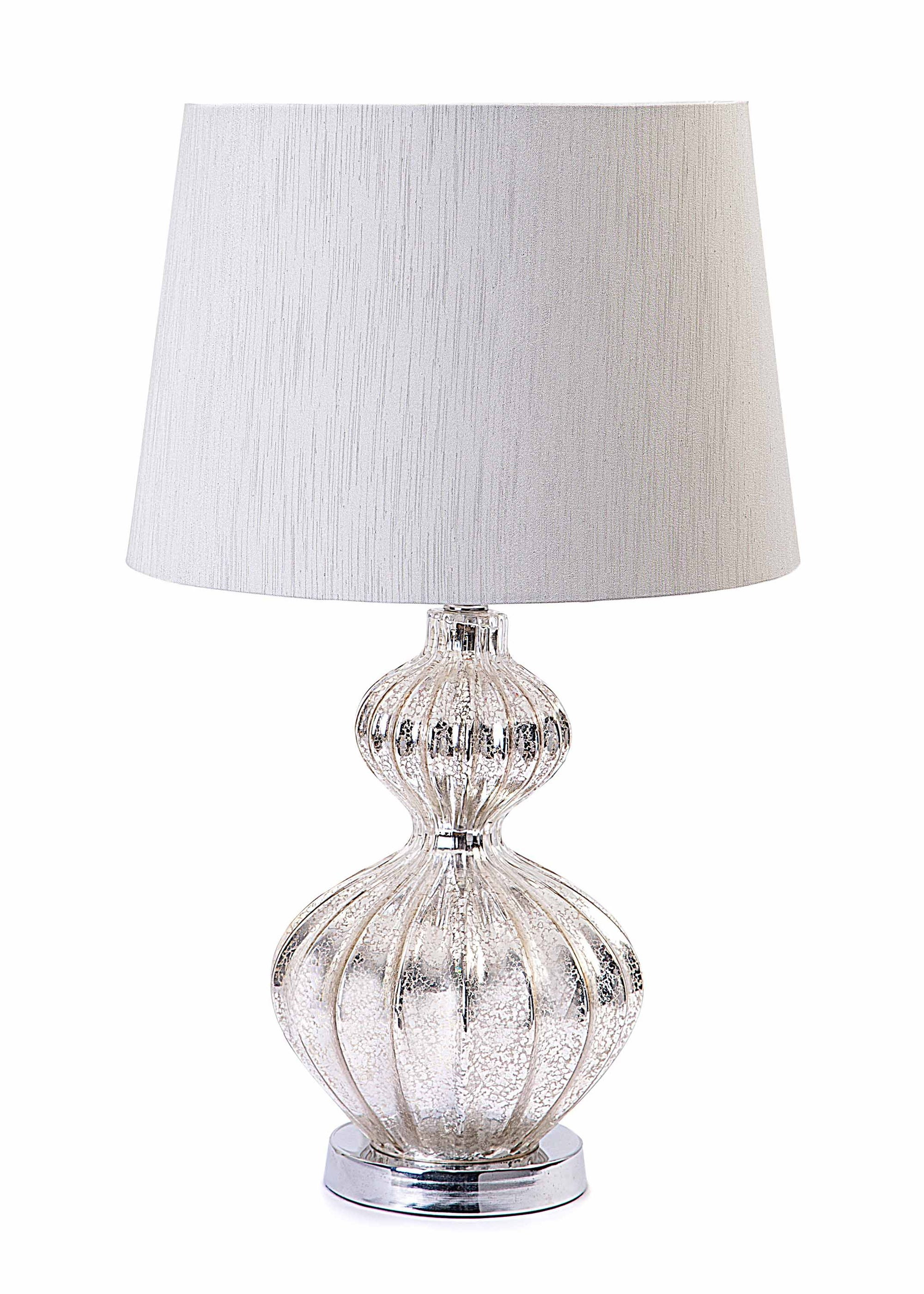 Mercury silver acrylic chrome base table lamp with light grey shade mercury silver acrylic chrome base table lamp with light grey shade table lamp chic mozeypictures