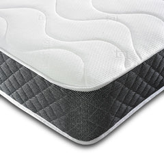 3FT Single-Orthopaedic Open Coil Sprung Black Quilted Border Memory Foam Mattress-Orthopaedic Mattress-Chic Concept