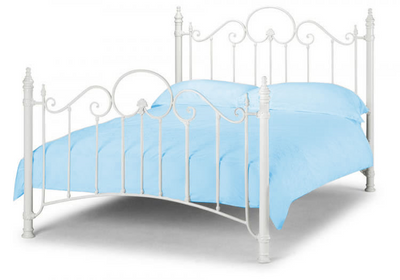 Vanessa Vintage Cream Metal Bed Frame-Metal Bed-Chic Concept