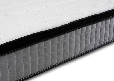 Orthopaedic 1000 Pocket Sprung Grey Pillow Top Border Memory Foam Mattress-Pocket Sprung Mattress-Chic Concept