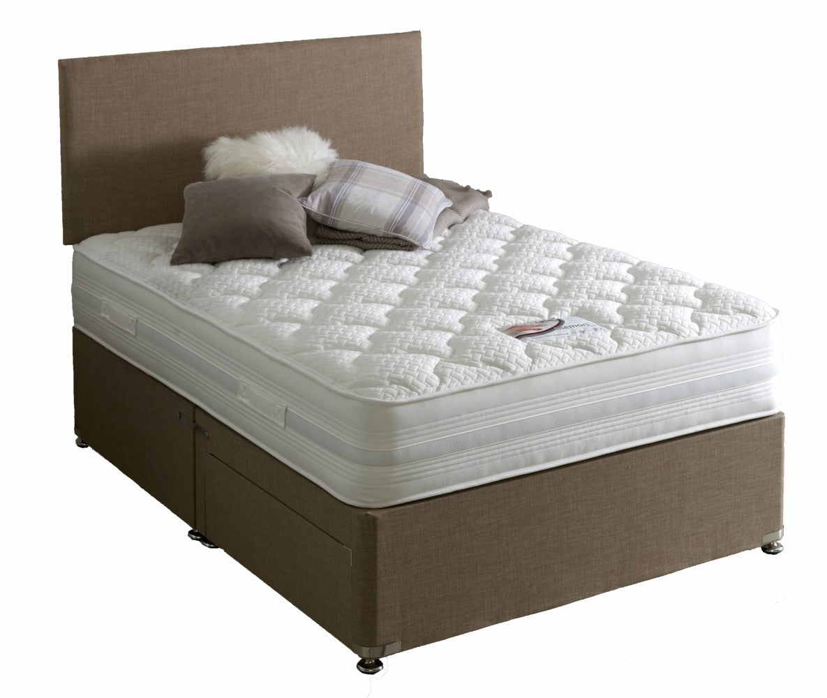 39b581c2532f New Modern Plain Headboard & Divan Storage Bed with Drawers-Bed-Chic Concept
