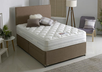 New Modern Plain Headboard & Divan Storage Bed with Drawers-Bed-Chic Concept