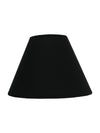 Black Plain Fabric Coolie Shade-Lamp Shades-Chic Concept