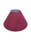 Burgundy Plain Fabric Coolie Shade-Lamp Shades-Chic Concept
