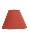 Terracotta Plain Fabric Coolie Shade-Lamp Shades-Chic Concept