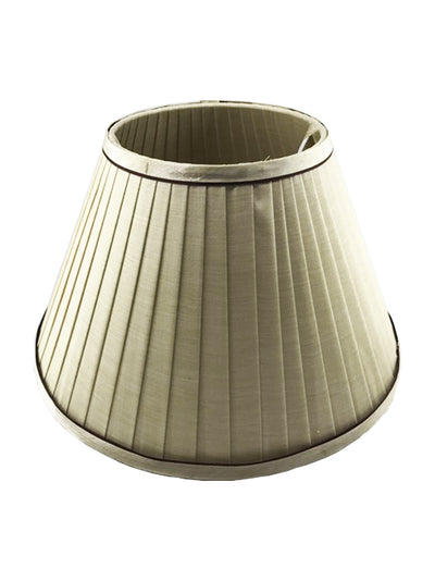Cream Silk Fabric Pleated Shade-Lamp Shades-Chic Concept