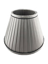 Grey Silk Fabric Pleated Shade-Lamp Shades-Chic Concept