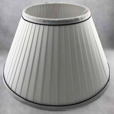 White Silk Fabric Pleated Shade-Lamp Shades-Chic Concept