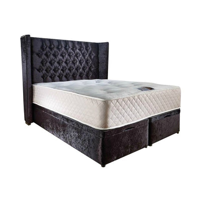 Queen Ann Chesterfield Wingback Bespoke Ottoman Bed-Bed-Chic Concept