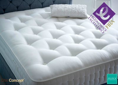 AVAX Rossa FIRA Certified Ergonomic Pocket Sprung Hand Stitched Tufted Mattress-AVAX Mattress-Chic Concept