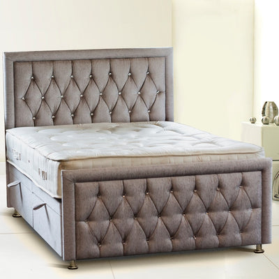 Rozzini Chesterfield Border Bespoke Ottoman Bed by Chic Concept