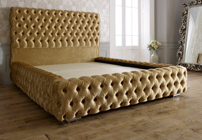 Chalet Full Chesterfield Bespoke Sleigh Bed-Bed-Chic Concept