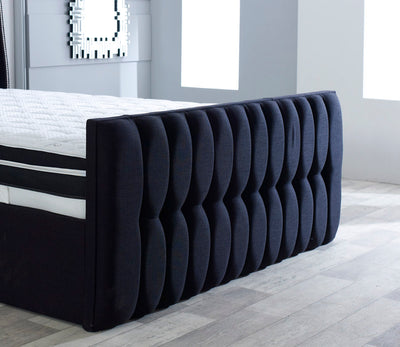 Richmond Wing Back Bespoke Sleigh Bed-Bed-Chic Concept