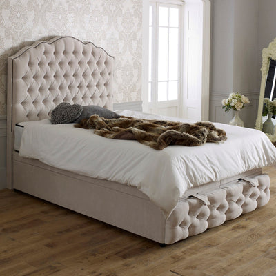 Amelia Chesterfield Headboard & Footplate Bespoke Ottoman Bed-Bed-Chic Concept