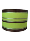 "11"" Green Silk Fabric Sailing Drum Shade-Lamp Shades-Chic Concept"