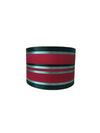 "11"" Red Black Silk Fabric Sailing Drum Shade-Lamp Shades-Chic Concept"