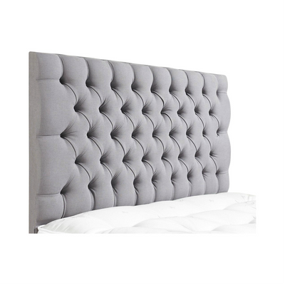 "New Bespoke Savoy Chesterfield Buttoned Upholstered 24"" Low Headboard-Headboard-Chic Concept"