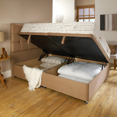 Shannon Cube Bespoke Ottoman Bed with unique storage solution by Chic Concept