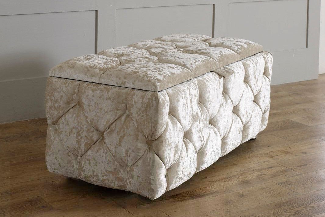 Pleasing 4 Sided Chesterfield Ottoman Storage Box Gmtry Best Dining Table And Chair Ideas Images Gmtryco