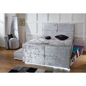 4FT Small Double Bespoke UK Made Space Saver LED Bed with 3FT Pull Out Trundle Guest Bed-Guest Bed-Chic Concept