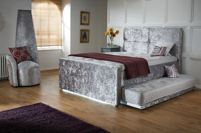 4FT Small Double Bespoke UK Made Space Saver Bed with 3FT Pull Out Trundle Guest Bed-Guest Bed-Chic Concept