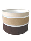 "11"" Brown Beige Cream Faux Suede Stripe Drum Shade-Lamp Shades-Chic Concept"
