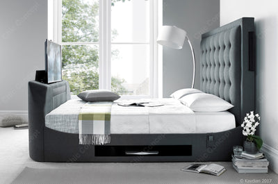 Titan TV Bed Berwick Grey-TV Bed-Chic Concept