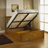 Stanley Oak Wooden Storage Ottoman Bed-Wooden Bed-Chic Concept