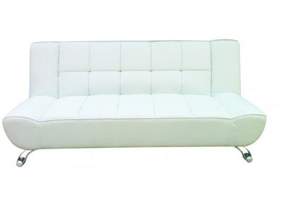 Vogue White Faux Leather Sofa Bed-Sofa Bed-Chic Concept