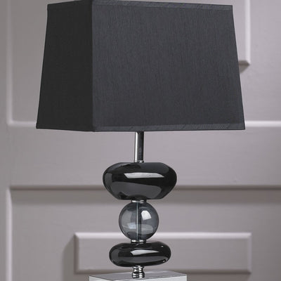 Contemporary Retro Black Glass Tibet Table Lamp-Table Lamp-Chic Concept