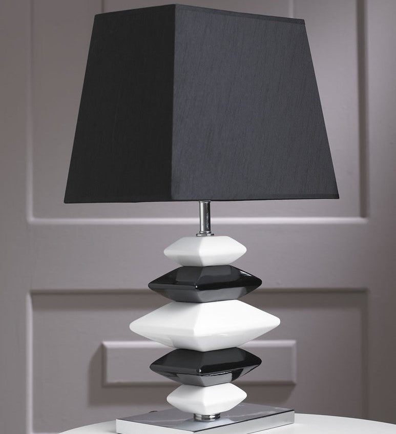 Contemporary Black And White Pebbles Lamp Chic Concept