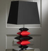 Contemporary Black and Red Pebbles Lamp-Table Lamp-Chic Concept