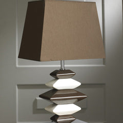 Contemporary Chocolate and Cream Pebbles Lamp-Table Lamp-Chic Concept