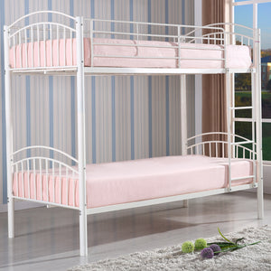 Children's Yorkshire White Metal Kids Bunk Bed-Bunk Bed-Chic Concept