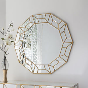 Celeste Modern Artistic Decagon Wall Mirror-Art Deco Mirror-Chic Concept