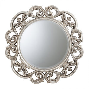 Chartwell Round Traditional Ornate Wall Mirror-Ornate Mirror-Chic Concept