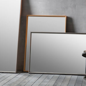 Comet Modern Wood Frame Grey Wall Mirror-Modern Mirror-Chic Concept