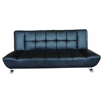 Vogue Black Faux Leather Sofa Bed-Sofa Bed-Chic Concept