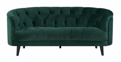 Seattle Green Velvet Chesterfield Love Seat-Fabric Sofa-Chic Concept