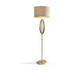 Olive Antique Brass Floor Lamp with Shade-Floor Lamp-Chic Concept