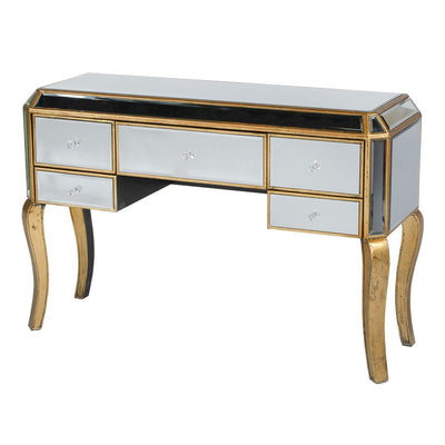 Vintage Venezia Antique Gold Desk Dressing Table-Dressing Table-Chic Concept