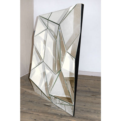 Contemporary Venetian Geometric Prism Decorative Wall Bedroom Hall Mirror-Decorative Mirror-Chic Concept